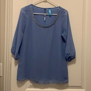 Periwinkle 3/4 top with beading